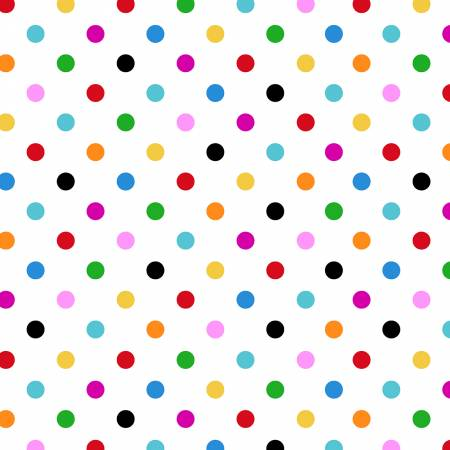 I Heart of You White Dots Multi