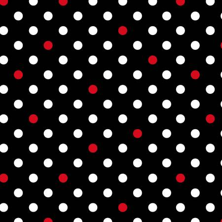 I Heart you Black/White Dots w/red