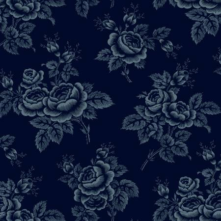 Windham - Abigal Blue - Blue Large Floral