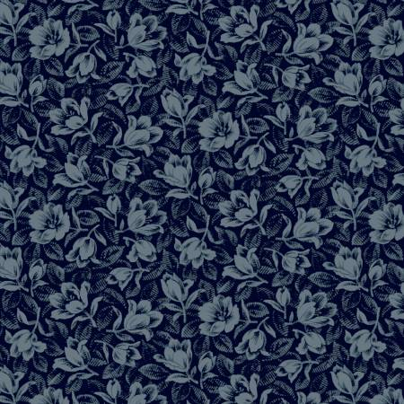 Blue Packed Floral