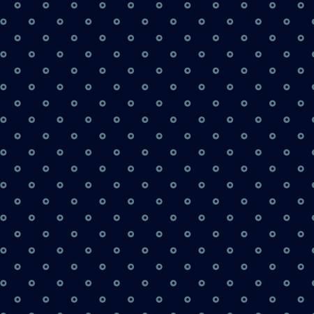 Windham - Abigal Blue - Blue Circle Dot