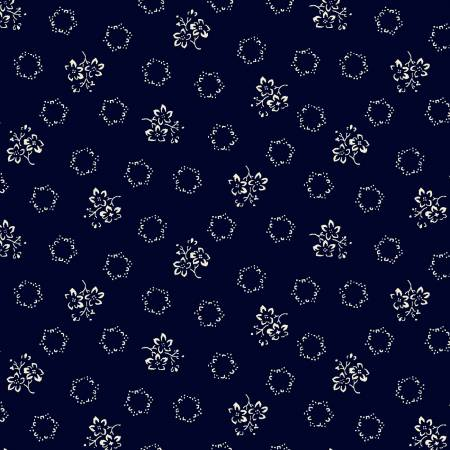 Windham - Abigal Blue - Navy Geo Floral