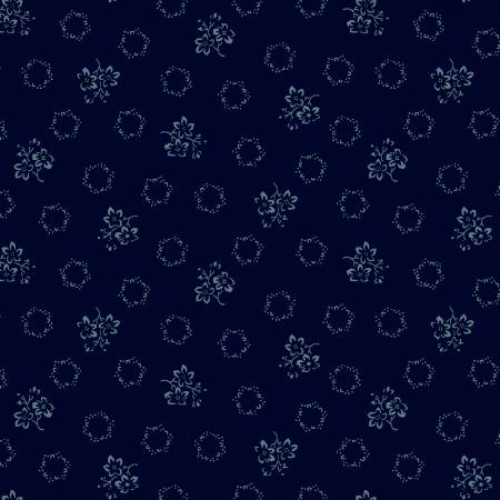 Windham - Abigal Blue - Blue Geo Floral