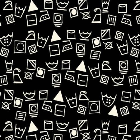 Dirty Laundry - Black Washing Symbols