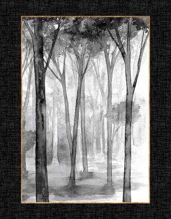 Charcoal/Gold Watercolor Sketchbook 36in Panel (20C)