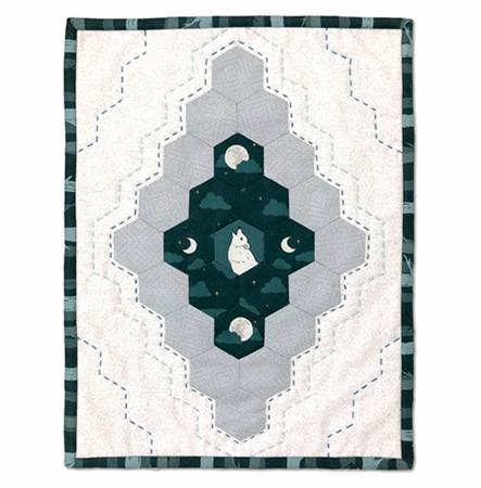 Quilt Kit Nocturne Mini Wolf Hexi