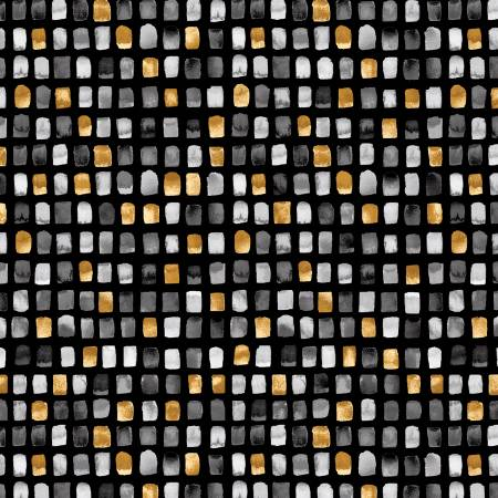Charcoal/Gold Mini Tiles-95-94