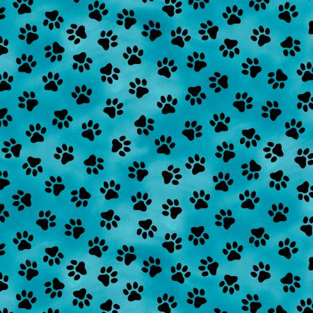 WIND- Somebody To Love Turquoise w/Black Paw Prints