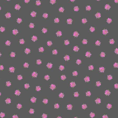 Kaleidoscope Flowers Charcoal