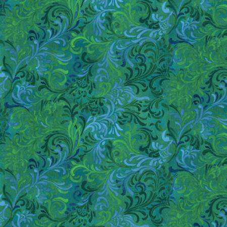 Wilmington Prints 1013-447 Essentials Embellishment Blue and Green `
