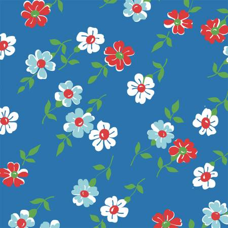 Windham Bounce Blue Floral