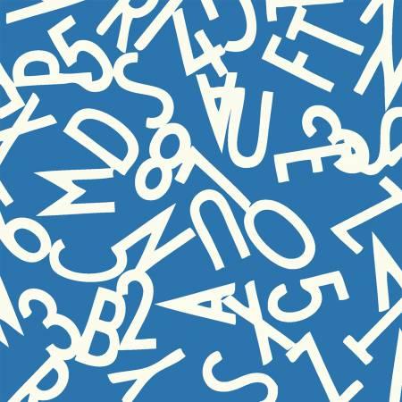 Windham Bounce Blue Alphabet