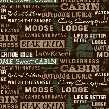 Brown Cabin Words