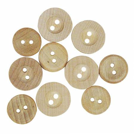 Button Bag - Wood - Assorted Sizes
