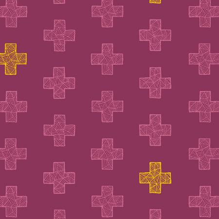 Good Vibes Only - Pluses, Jam - by Shayla Wolf for Windham Fabrics -Pluses Jam