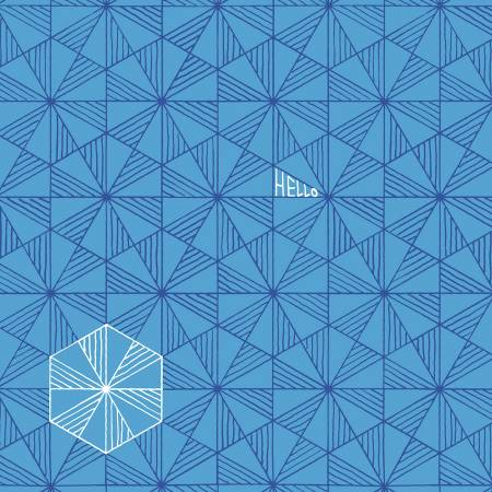 Good Vibes Only - Prisms, Azure - by Shayla Wolf for Windham Fabrics