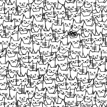 Cat Happy White Faces
