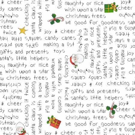 White Christmas Words