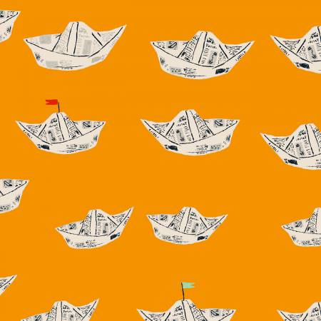 Orange Newspaper Boats