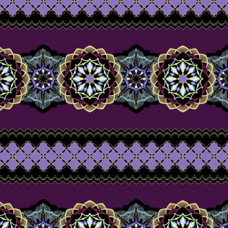 Medallion Stripe Purple w/Metallic