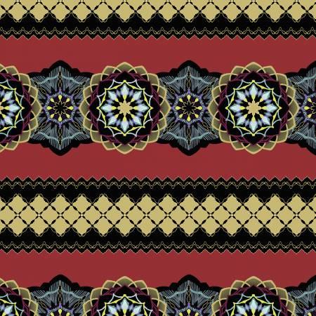 Medallion Stripe Crimson w/Metallic