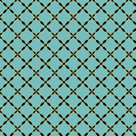 Lattice Turquoise w/Metallic