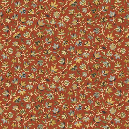 Tara 51234-4 Crimson Mini Packed Floral