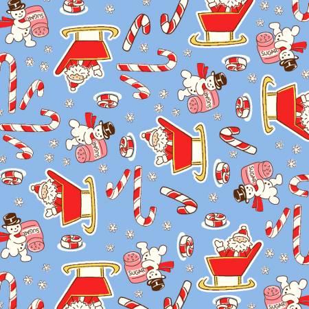 Blue Candy Cane Santa