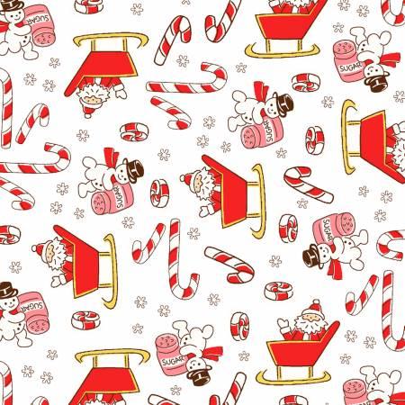 White Candy Cane Santa