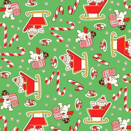 Green Candy Cane Santa