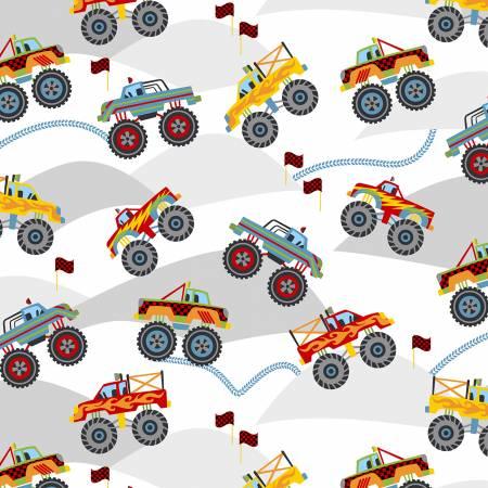 Monster Truck Champs White