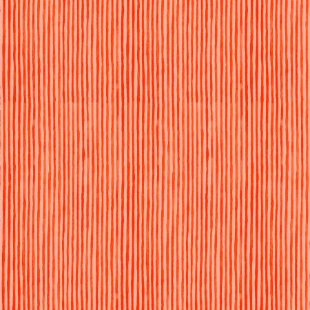 Candy Stripe Coral Organic Cotton