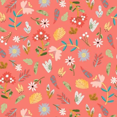 Ellie Coral Floral 51358-5
