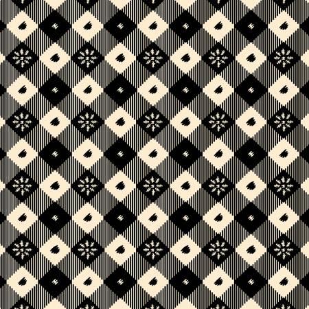 Black Vintage Table Cloth