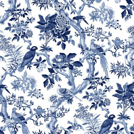 Porcelain Blue Aviary