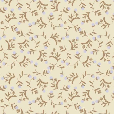 Cream Dandelion Ditsy