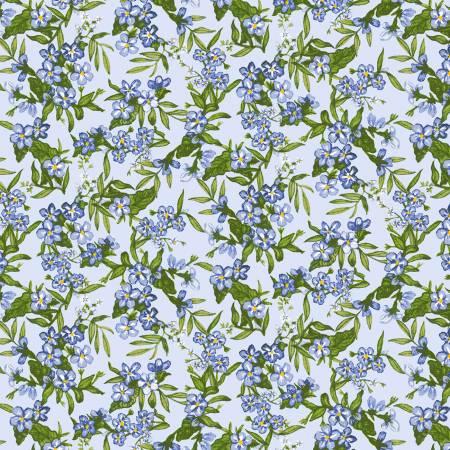Little Bo Peep Baby Blue Floral Cluster