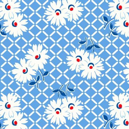 Cornflower Daisy Grid