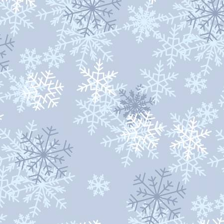 108 Wide Back Windham Blue Snowflakes