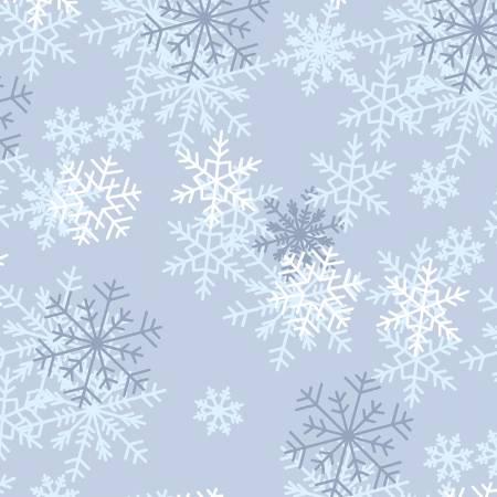 108 Blue Snowflakes