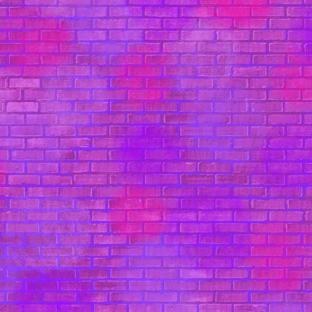 *Unstoppable Magenta Painted Brick