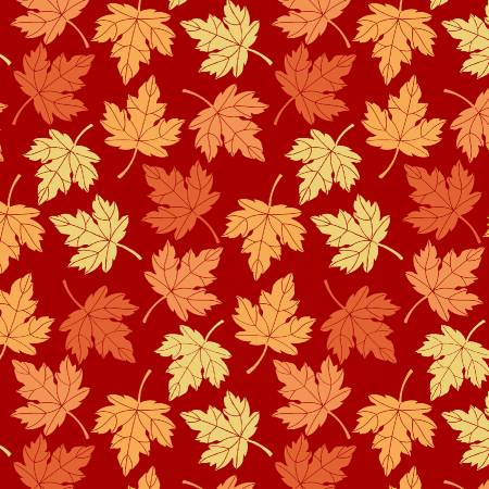 Pumpkin Spice - Tossed Leaves Red