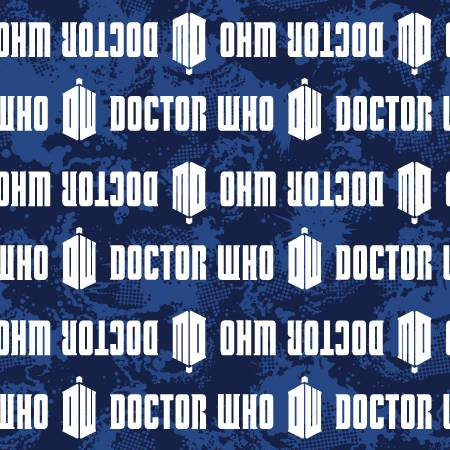 Doctor Who Logo Stripe