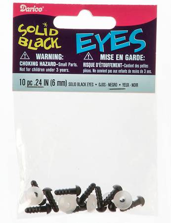 Animal Eye Safety 6mm Black 10 pieces