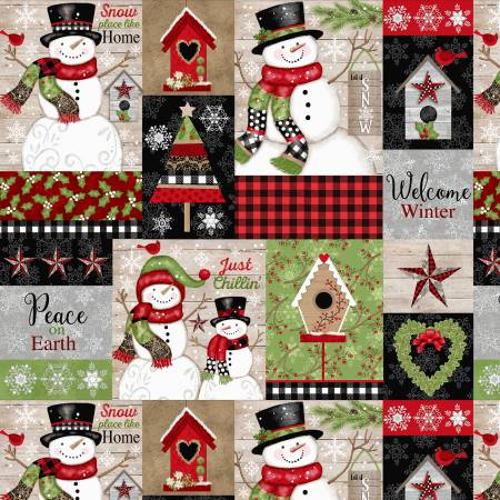 Studio E - Snow Place Like Home - Snowman Patch - 5160-98 - Red