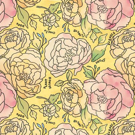 Potpourri by Laura Heine #51654-2- Sunshine Bed of Roses