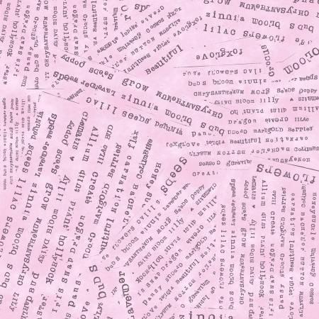 Potpourri by Laura Heine #51658-4- Peony Word Collage