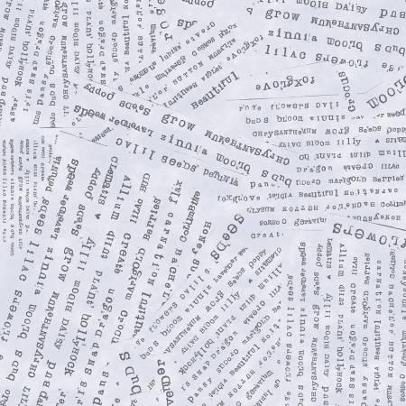 Windham Fabrics Grey Word Collage 51658-6