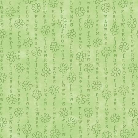 Windham Fabrics Pistachio Flower Stripe 51659-11