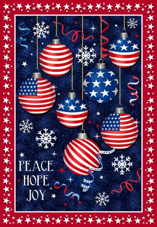 Christmas USA Peace Hope Joy Digital Panel 30.5 x 43